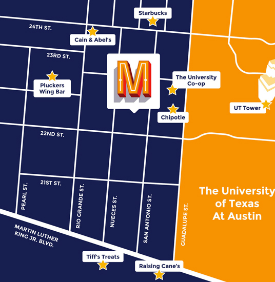 Map of Moontower ATX